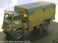 OXFORD 1/76 OO WW2 BEDFORD QLD BRITISH ARMY FIRE SERVICE GS CARGO TRUCK 76QLD001