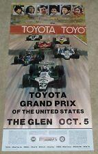 ORIGINAL 1980 OCT 5 WATKINS GLEN GRAND PRIX RACE POSTER VILLENEUVE,ANDRETTI etc