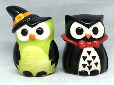 Halloween Salt and Pepper Shaker Set Ceramic Saltpepper Owl Shakers Kitchen New