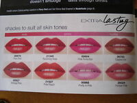 AVON EXTRA LASTING LIPSTICK ASSORTED SHADES COLOURS NEW/SEALED