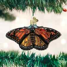 Monarch Butterfly Glass Ornament Old World Christmas NEW IN BOX