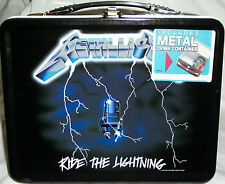 Lunch Box Metallica Pail Tin School Lunchbox Xmas Lunchpail Heavy Metal Gift