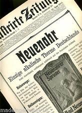 """""""Therme Bad Neuenahr"""" Orig Kur-Reklame Titelblatt von 'Illustrirte Zeitung' 1904"""