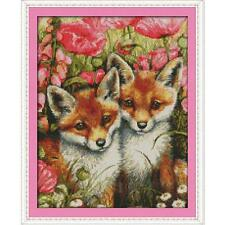 Dimensions Counted Cross Stitch Kits Needlework Lovely Foxes Animal 35*44cm 14CT