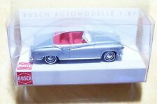 HO Busch 1958 Borgward Isabella Convertible Metallic Silver : Model Car 43153