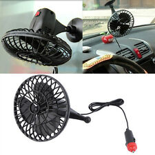 12V 4 Inch Summer Mini Air Fan Car Vehicle Cooling Suction Cup Adsorption BEBX