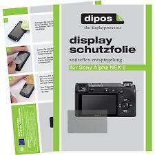 6x dipos Sony Alpha NEX 6 Schutzfolie Displayschutzfolie Antireflex Testsieger