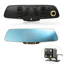 Anytek T6 HD 1080P Rearview Mirror Car Video Recorder DVR 2 Camera 2Len G-sensor