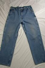 Carhartt B237 STW Faded Denim Carpenter Work Jeans Pants Measure 38x35