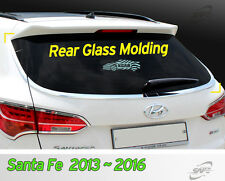 Chrome Rear Glass Molding Garnish 5Passenger For Hyundai Santa Fe 2013~2015 2016