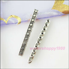 20Pcs New Tibetan Silver Charms 10-Hole Spacer Bar Beads DIY Crafts 3.5x33mm