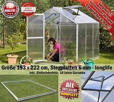 Gewächshaus, Glashaus, Treibhaus B193 x T222 cm zum Setpreis