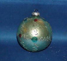 VINTAGE BLUE HAND DECORATED MERCURY GLASS CHRISTMAS ORNAMENT MUST SEE