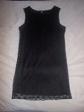 BNWOT New no Tags, Black sleeveless Lace detail Dress - Dorothy Perkins - UK 14