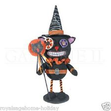 FGH69806 Steampunk Black Cat Trick or Treat Halloween Table Figure Decoration