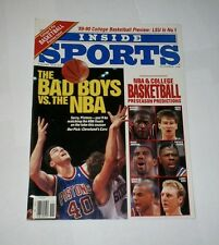 1989 NEWSSTAND ! Inside Sports BILL LAIMBEER Detroit Pistons Bad Boys NO LABEL