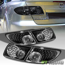 2003-2008 Mazda6 4-Door Sedan Black LED Tail Lights Brake Lamps Left+Right 4Pcs