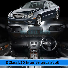 White 16 Lights LED Interior Kit For Mercedes Benz W211 E Class 03-09 Error Free