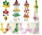 Green Red Silver Purple Gold Christmas Foil Hanging Decorations & Garlands XMAS