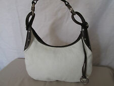 Genuine Ruehl 925 leather horse bit strap shoulder bag in white