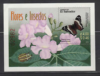 El Salvador 2003 Flying Insects Flower Sc 1588 mint never hinged.