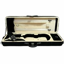 SKY 4/4 Premium Oblong Lightweight Violin Case with Hygrometer Black/Champagne