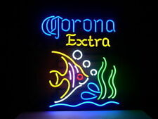 "New CORONA EXTRA BEER TROPICAL FISH Neon Sign 17""x14"" Ship From USA"
