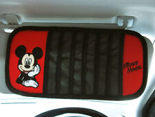 Mickey Mouse Car Accessory #C : Sunshade Cover Sun Visor 7 slots / Red,Black