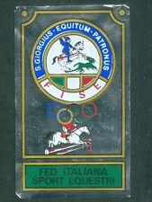 Scudetto Campioni dello Sport Panini 1967-68! Fed. It. Sport Equestri Ottimo Rec
