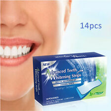 14 Pack 28 Pc Advanced Teeth Whitening Professional White Strips Tooth Bleaching