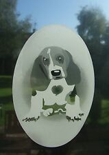 BASSETT HOUND PUPPY  Vinyl Window Decoration / Static Cling / Sticker 10x15cm