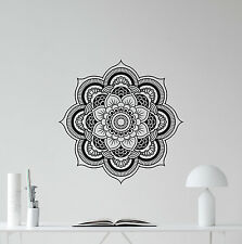 Mandala Wall Decal Lotus Flower Yoga Namaste Vinyl Sticker Bedroom Decor 169hor
