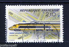 FRANCE 1984, timbre 2334, TRAIN, TGV POSTAL, oblitéré, cachet rond, VF stamp
