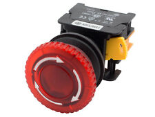MBL30 ATI Red 30mm Emergency Stop Push Button Switch 24V LED Illuminated