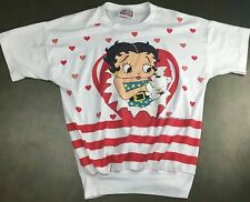 True Vintage 1988 Womens Betty Boop w/ Dog Cute Graphic Blouse T-Shirt M/L