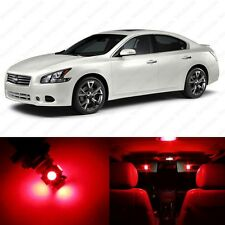 12 x Brilliant Red LED Interior Light Package For 2009 - 2013 Nissan Maxima