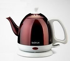 Kettle Tea Stainless Steel Electric Cordless 0.8 Liter Pot Water wine Red 220V