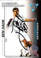 Bolton Wanderers F.C Tal Ben Haim Hand 05/06 Premiership Shoot Out Signed Card.