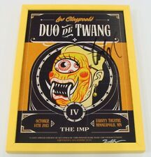 LES CLAYPOOL DUO DE TWANG (PRIMUS) 10-14-13 MINNEAPOLIS MN FRAMED POSTER SIGNED
