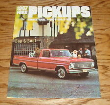 1967 Ford Truck Pickup Sales Brochure 67 F-100 F-250 F-350