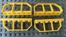 Lego Train Wagon End Hand Rail  Modified Plate 1 x 6 Yellow x 4 p/n 6583 *NEW*