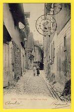 cpa FRANCE Cachet Inversé 1904 TROYES (Aube)  La Rue des CHATS Animés