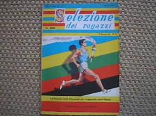 OLIMPIADI ROMA OLYMPICS GAMES 1960 SELEZIONE DEI RAGAZZI RARA RIVISTA MAGAZINE