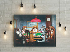 18x24 HD Canvas print Home decor painting (No frame) Dogs Playing Poker #0360