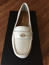 NIB $99 COACH ODETTE CHALK LOAFERS PEBBLE GRAIN LEATHER A01375 SZ 5M