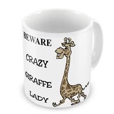 Beware Crazy Giraffe Lady Novelty Gift Mug