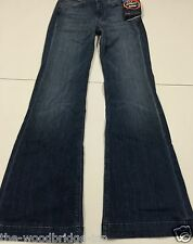 BNWT 7 FOR ALL MANKIND GINGER SIZE 26 BLUE LADIES FLARED JEANS 1G