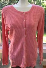 Women's Lilly Pulitzer Pink Button Front Cotton Blend Sweater Cardigan XL