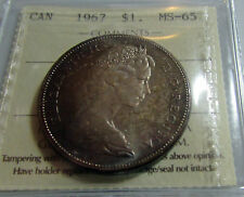 Canada 1967  Silver Dollar  ICCS MS 65 Monster Toned Beauty