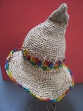 Rainbow WITCH witchypoo  HAT Natural fibres  Nepal handicraft festival